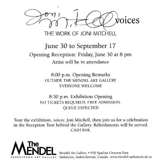 Joni mitchell a chronology of appearances invitation stopboris Choice Image