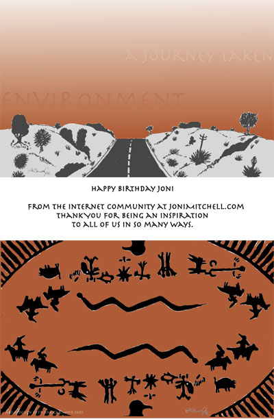2005 Birthday Card Artwork And Design Created By JDML Member Frank Garwood From Southern California Front Insert Back Are Shown