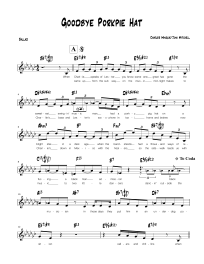 recipe: goodbye pork pie hat piano sheet music [9]